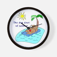 Dog Days of Summer Wall Clock