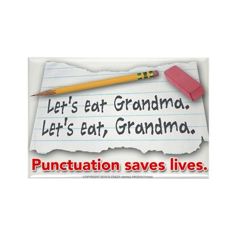 Punctuation Saves Lives Rectangle Magnet (100 pack