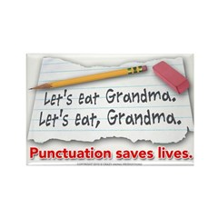 Punctuation Saves Lives Rectangle Magnet