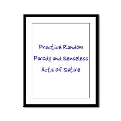 Random Parody/Senseless Satir Framed Panel Print