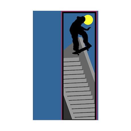 Skateboarding Sticker (Rectangle)