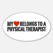 My Heart Physical Therapist Sticker (Oval)