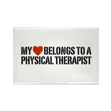 My Heart Physical Therapist Rectangle Magnet