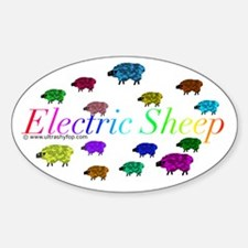 Electric Sheep Sticker (Oval)