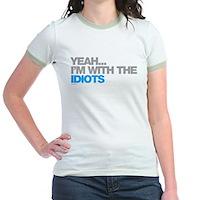 I'm With The Idiots Jr. Ringer T-Shirt