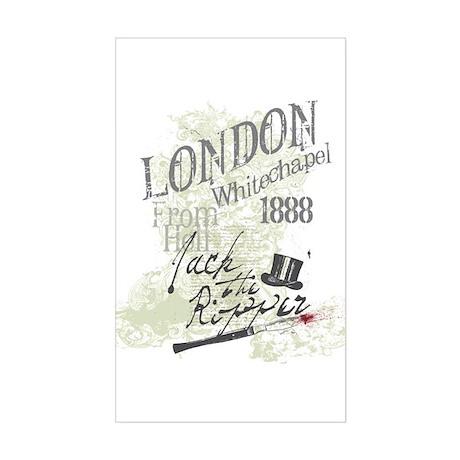 Jack the Ripper London 1888 Sticker (Rectangle)