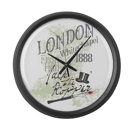 Jack the Ripper London 1888 Large Wall Clock