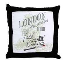 Jack the Ripper London 1888 Throw Pillow