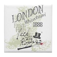 Jack the Ripper London 1888 Tile Coaster