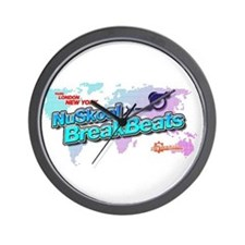 NuSkool BreakBeats Wall Clock