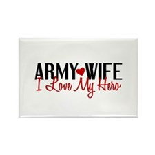 Army Wife - Love My Hero Rectangle Magnet