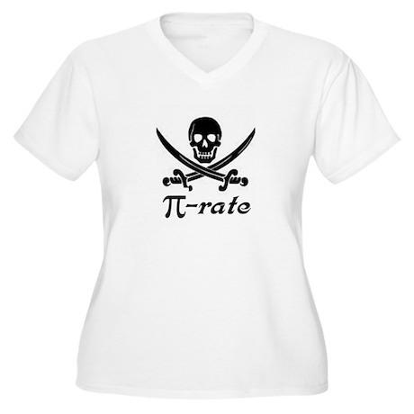 Pi-rate Women's Plus Size V-Neck T-Shirt