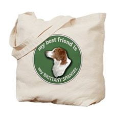Best Friend Brittany Spaniel Tote Bag