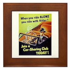 Riding With Hitler Framed Tile
