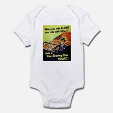 Riding With Hitler Infant Bodysuit