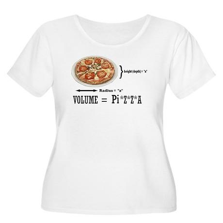 Pizza Pi Women's Plus Size Scoop Neck T-Shirt