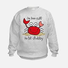 Too Cute Crab Sweatshirt