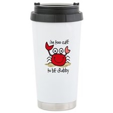 Too Cute Crab Travel Coffee Mug