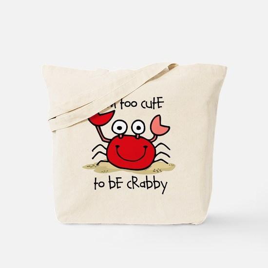 Too Cute Crab Tote Bag