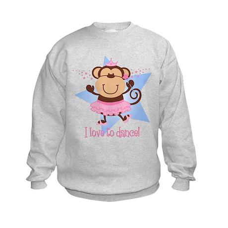 Monkey Ballerina Kids Sweatshirt