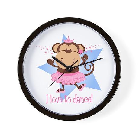 Monkey Ballerina Wall Clock
