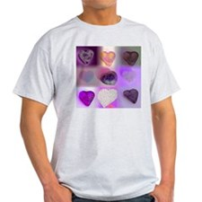 Purple Hearts ASH GREY T-SHIRT