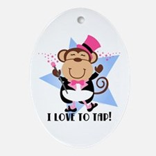 Monkey Tap Dancer Ornament (Oval)