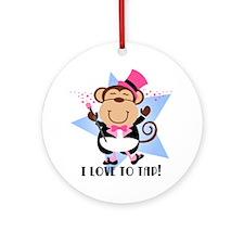 Monkey Tap Dancer Ornament (Round)