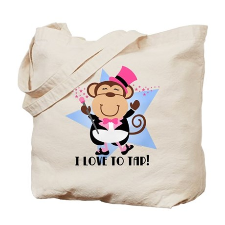 Monkey Tap Dancer Tote Bag