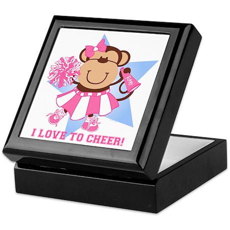 Monkey Cheerleader Keepsake Box
