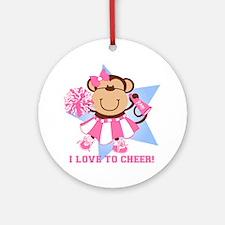 Monkey Cheerleader Ornament (Round)