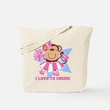 Monkey Cheerleader Tote Bag
