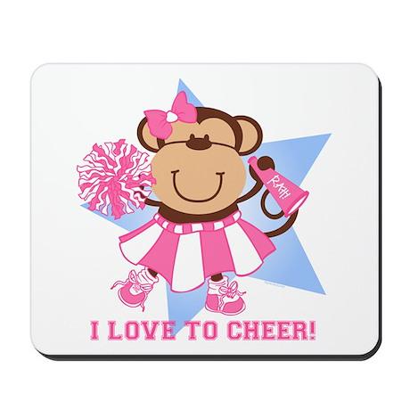 Monkey Cheerleader Mousepad