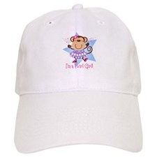 Monkey Twirl Girl Baseball Cap