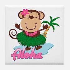 Aloha Monkey Tile Coaster