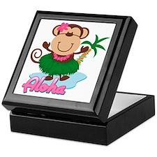 Aloha Monkey Keepsake Box