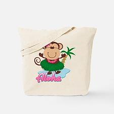 Aloha Monkey Tote Bag
