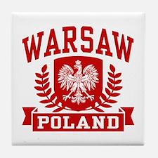 Warsaw Poland Tile Coaster
