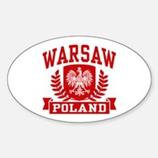 Warsaw Poland Sticker (Oval)