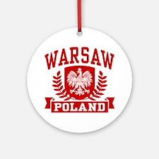 Warsaw Poland Ornament (Round)