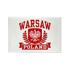 Warsaw Poland Rectangle Magnet