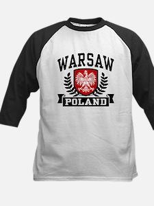 Warsaw Poland Kids Baseball Jersey