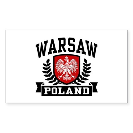 Warsaw Poland Sticker (Rectangle)