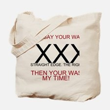 Funny Straightedge Tote Bag