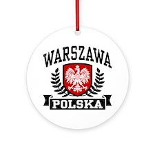 Warszawa Polska Ornament (Round)