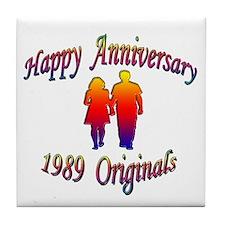 Funny Wedding anniversary favors Tile Coaster