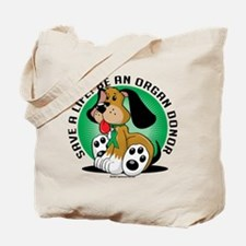 Organ Donor Dog Tote Bag