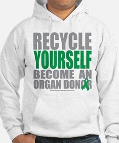 Organ Donor Recycle Yourself Hoodie