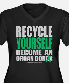 Organ Donor Recycle Yourself Women's Plus Size V-N