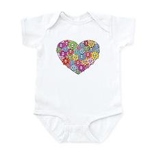 Skull Heart Infant Bodysuit